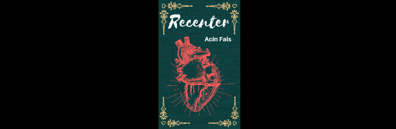 "Banner featuring ""Recenter"" cover"